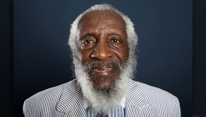 Comedian and activist Dick Gregory, seen In this 2012 file photo, has died. He was 84. (Photo by Matt Sayles/Invision/AP, File)