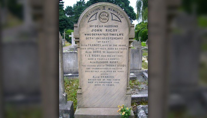 Deeds for grave of Eleanor Rigby for sale in September