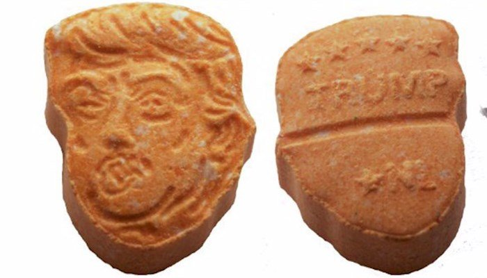 German police seize ecstasy tabs in shape of Trump's head