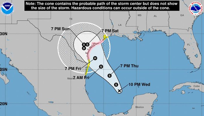 Tropical Depression Harvey forms in Gulf of Mexico