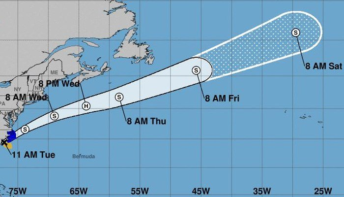 Whether the disturbance becomes a tropical storm named Irma remains to be seen. (Source: NHC)