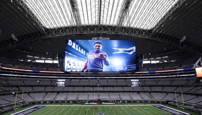 The Houston-Dallas preseason game on Thursday has been moved to the Cowboys' AT&T Stadium. (Source: AP/LN Otero)