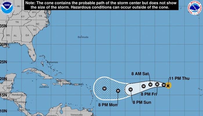 Irma is now a major hurricane. (Source: NHC)