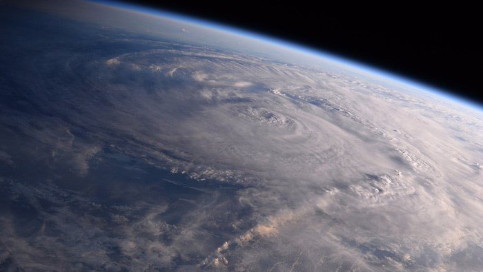 Families should have an emergency plan in place for hurricanes or other potential disasters. Pictured is Hurricane Harvey as seen from space Aug. 26, 2017. (Source: