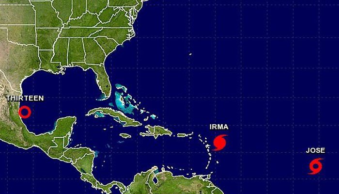 Jose is behind Hurricane Irma. (Source: NHC)