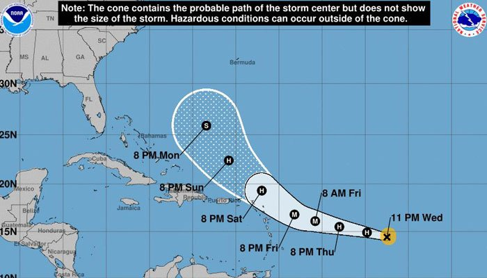 Hurricane Jose is expected to turn more to the north later in the week, and over the weekend. (Source: NHC)