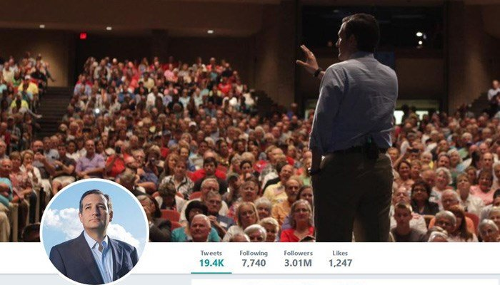Sen. Ted Cruz said a staffer with access to his official Twitter account mistakenly liked a porn video on Twitter. (Source: @tedcruz/Twitter)