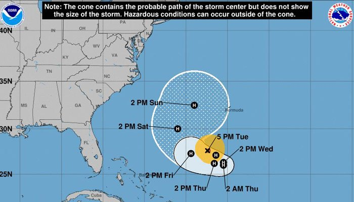 Hurricane Jose is heading east, but forecasters said it will head west again in the next few days. (Source: NHC)