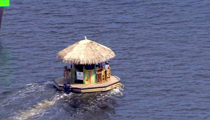 The vessel measures about 15 feet wide and long, and can carry eight to 10 people. (Source: Pool/CNN)