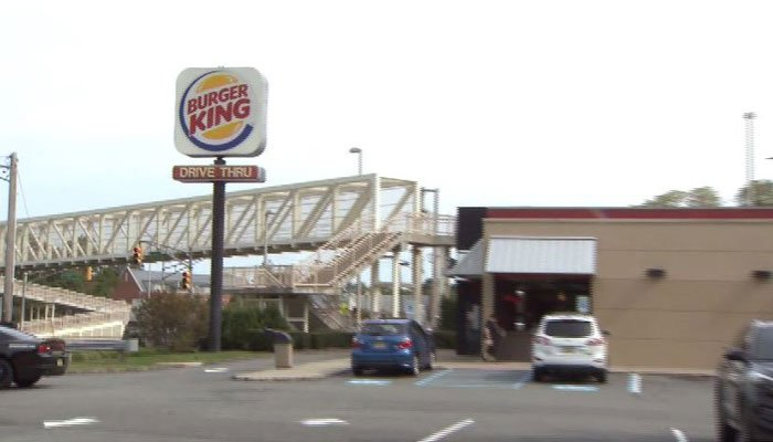 The Denville, NY, Burger King was the site of two births in two days.  (Source: WCBS/CNN)