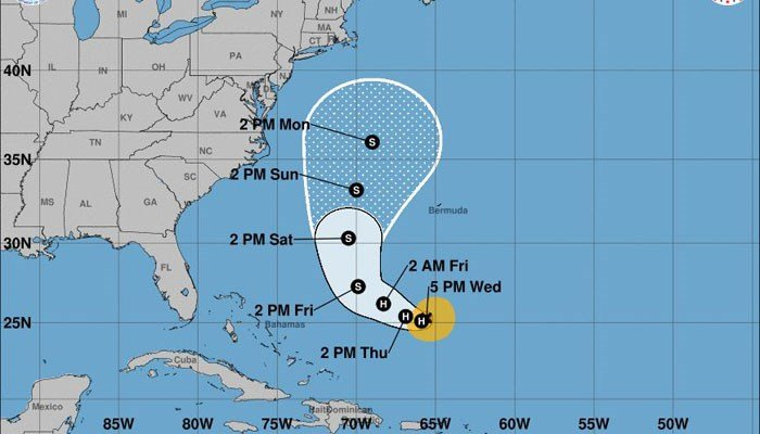 Forecasters expect atmospheric conditions to spin Hurricane Jose around. (Source: NHC)