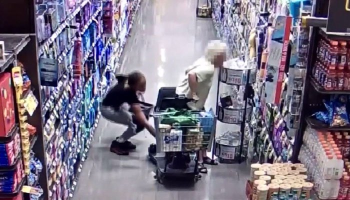The thief stole the purse from the floorboard of the electric scooter. (Source: Burbank Police Dept./CNN)