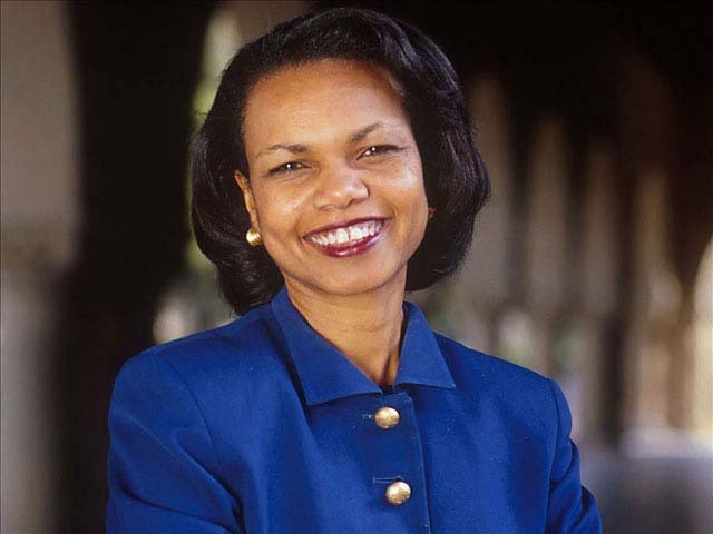 Former Secretary of State Condoleezza Rice.