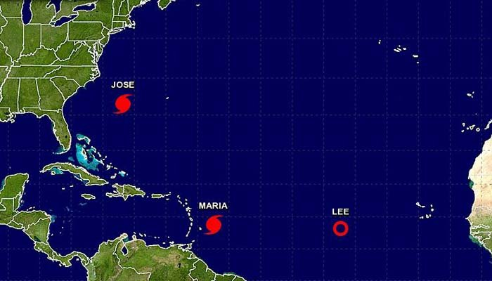 Two hurricanes are currently active in the Atlantic Ocean. (Source: National Hurricane Center)