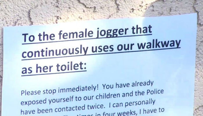 Police searching for woman caught pooping in neighborhood yards