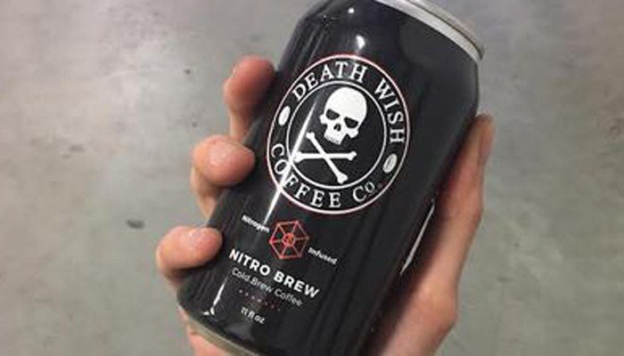 If you have Nitro Cold Brew coffee from Death Wish Coffee Co., don't drink it. (Source: Death Wish Coffee Co.)
