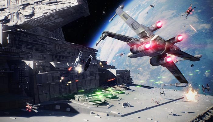 The new 'Battlefront' title expands upon the first by adding nearly triple the number of locations, heroes and vehicles for players to use in combat. (Source: IGDB/EA)
