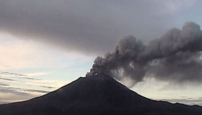 The volcano's summit is 17,802 feet high, making it North America's second-highest volcano. (Source: CENAPRED/CNN)