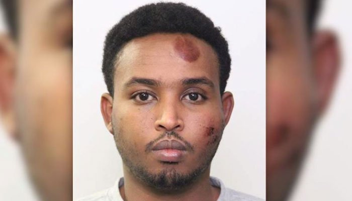 Police say Abdulahi Sharif mowed down an officer, and then got out of his car and repeatedly stabbed him. (Source: Edmonton Police/CNN)