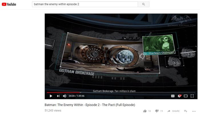 The picture was taken from its normal background and put into the video game, where it appears after about 20 minutes in the series' second episode. (Source: YouTube)