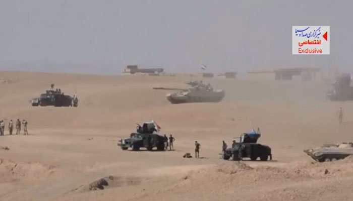 Iraqi armor gathers during an offensive on ISIS. (Source: AVN/IRIB/CNN)