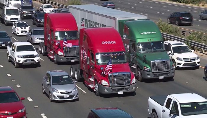 Advocates said that new electronic devices would regulate truckers' hours, which they believe would prevent them from getting into bad accidents. (Source: KOVR/CNN)