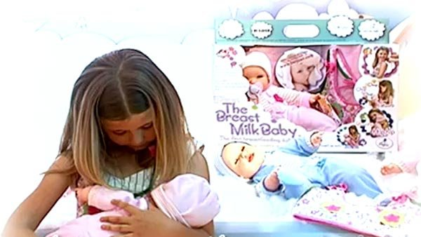 The breastfeeding baby was a huge hit in Europe, and it's now expected to hit U.S. store shelves. (Source: YouTube)