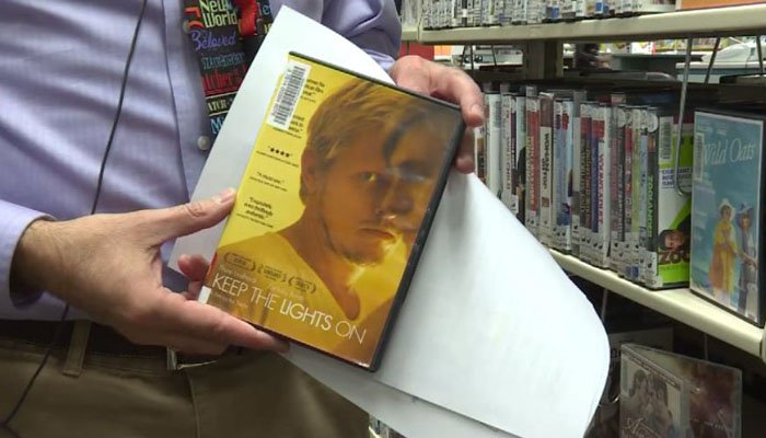 The man said he wanted to obstruct access to the DVDs because he felt gay and lesbian lifestyles were not acceptable. (Source: KBOI/CNN)
