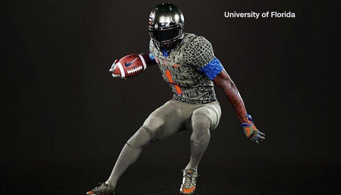 This will be the first time in school history that the Gators will stray from their signature orange and blue look. (Source: University of Florida/CNN)