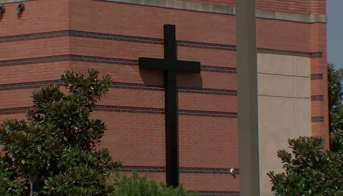 Court documents mentioned at least seven instances when Richard showed up to his church, home and even emailed him. (KTRK/Fort Bend County Court/Edith Stein Catholic Church/CNN)