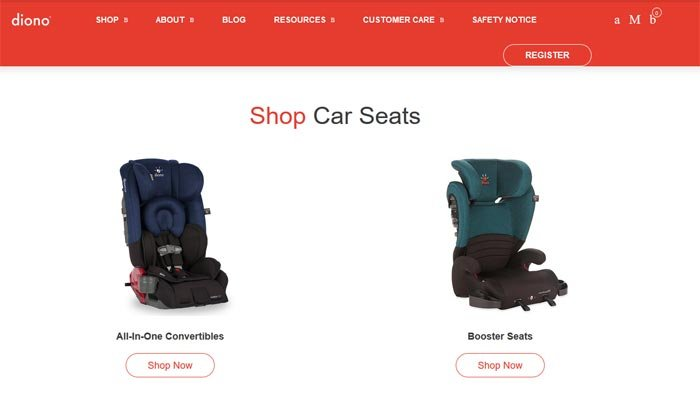 The recall affects the Radian R100, Radian R120, Radian RXT, Olympia, Pacifica and Rainier car seat lines. (Source: Diono)