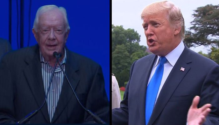 Jimmy Carter 'available' to help Trump with North Korea