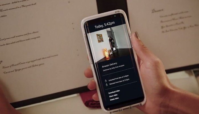 Amazon Key allows Prime members to track delivery of their packages inside their home. (Source: Amazon/CNN)