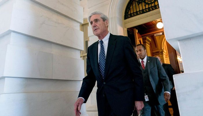 In this June 21, 2017 photo, Special Counsel Robert Mueller departs Capitol Hill following a closed door meeting in Washington. (Source:  (AP Photo/Andrew Harnik)