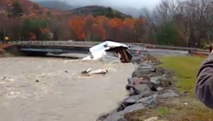 New Hampshire home swept away, destroyed by flood