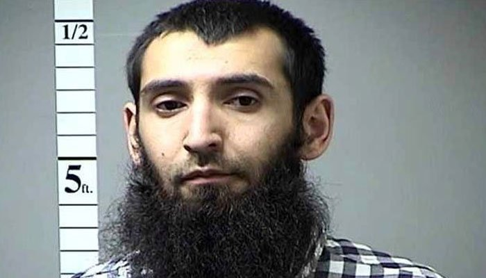 This undated photo provided by St. Charles County Department of Corrections via KMOV shows the Sayfullo Saipov. (Source: St. Charles County Department of Corrections/KMOV via AP)