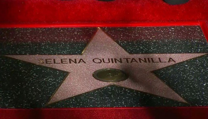 Selena Quintanilla was honored Friday with a posthumous star on the Hollywood Walk of Fame. (Source: CNNE)