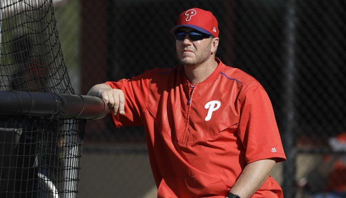 Former Philadelphia Phillies pitcher Roy Halladay, shown in this March 2017 photo, was killed in a single plane crash in the Gulf of Mexico on Tuesday. (AP Photo/Chris O'Meara)