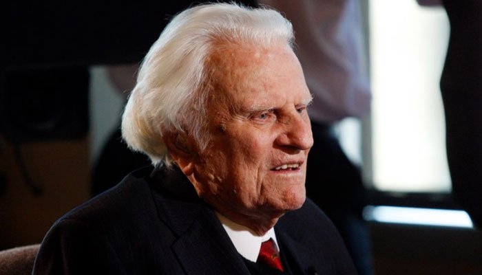In this Dec. 20, 2010 file photo, evangelist Billy Graham, then 92, is interviewed at the Billy Graham Evangelistic Association headquarters in Charlotte, N.C. He turned 99 on Tuesday. (Source: AP Photo/Nell Redmond, File)