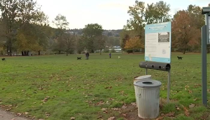 Investigators said the woman was visiting the park with friends or relatives when she was shot. (Source: KPTV/CNN)