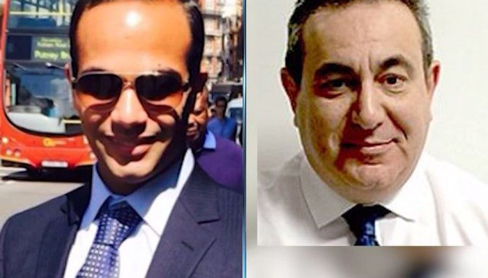 Professor Joseph Mifsud, right, is thought to have told Trump advisor George Papadopoulos that Russians have 'dirt' on Hillary Clinton. (Source: CNN)