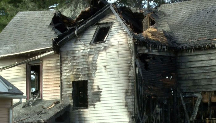 Three other people managed to get out of the house in Leaf River after the fire started. (Source: WTVO/CNN)
