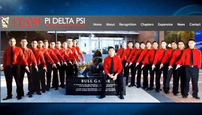 """The actual Greek organization is on trial for third-degree murder in the hazing death of Chun """"Michael"""" Deng, not the members themselves. (Source: Pi Delta Psi/WNEP/CNN)"""