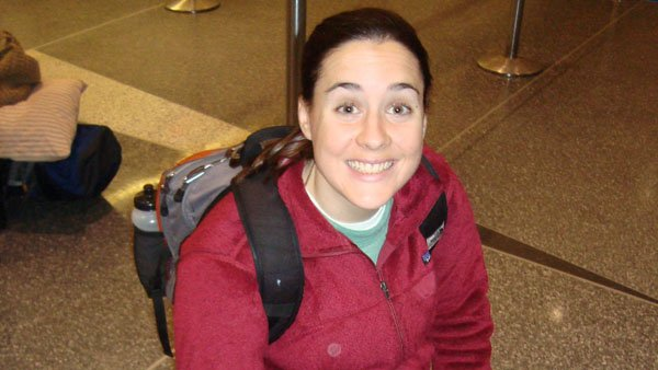 Beth O'Connor prepares for a flight to Phoenix in January 2010. (Courtesy: Joe Neese)