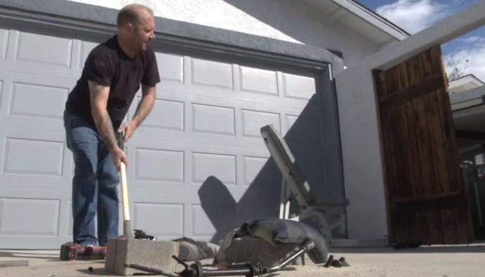 CA man destroys own AR-15 in protest