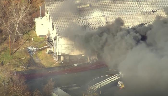 NY  factory fire and explosions injure 12, including five firefighters