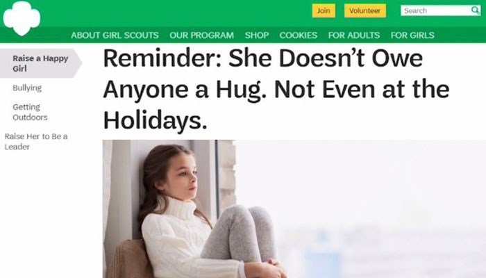 Girl Scouts of America says hugs can send wrong message