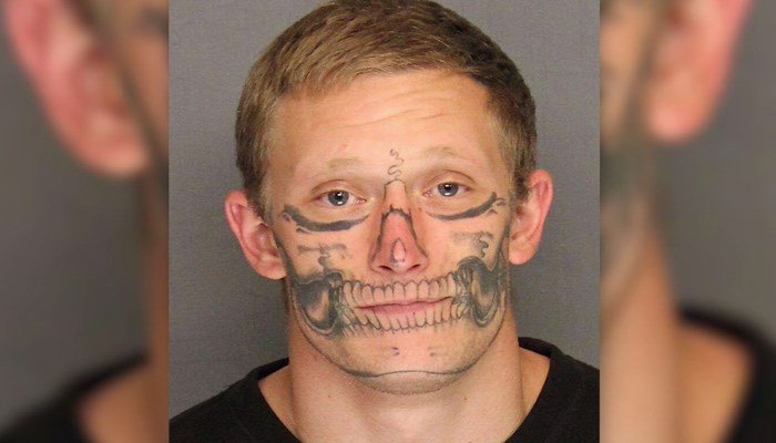 Deputies Seek Missing Inmate Who Has This Bizarre Skull Face Tattoo