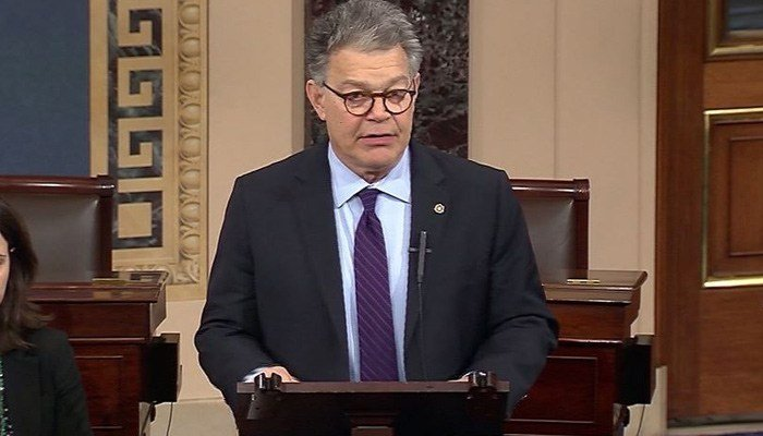 Sen. Al Franken, D-MN, has faced calls to resign amid sexual misconduct claims. (Source: CNN)