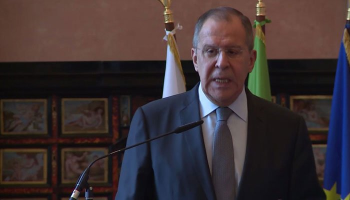 Russian Foreign Minister Sergey Lavrov has criticized America's treatment of Russian journalists.  (Source: CNN)